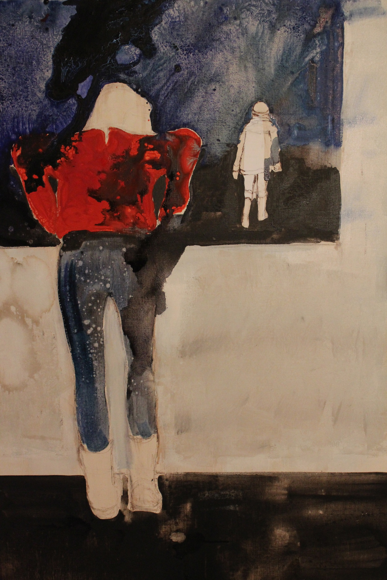 Peinture sur toile am lie bernard for Fenetre 80x120