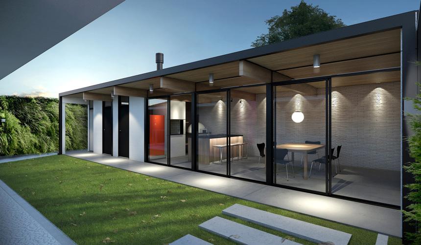 2011 ed cula casa wz henrique zulian for Cobertizo de jardin moderno de techo plano
