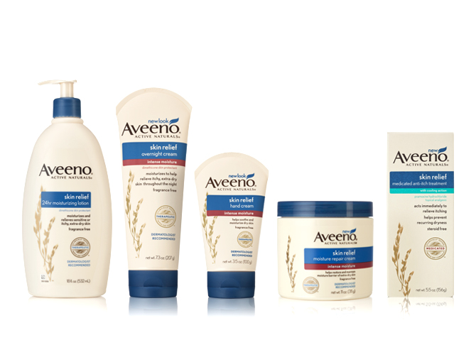 Aveeno facial care products description